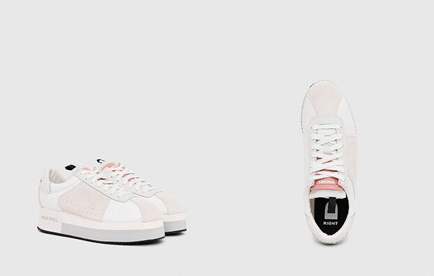 S-PYAVE WEDGE, Blanc/Rose - Baskets