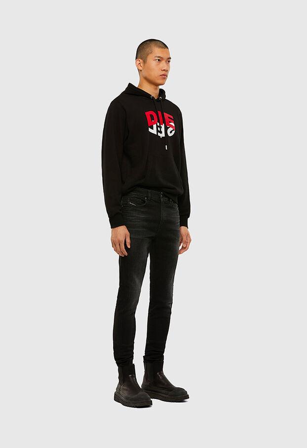 D-Amny 0092B, Noir/Gris foncé - Jeans