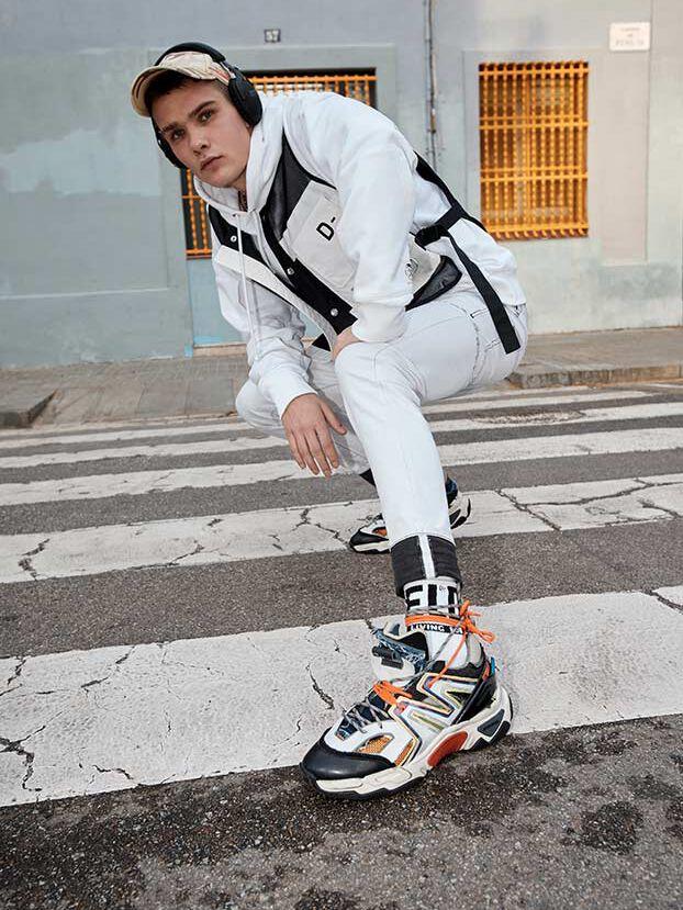 D-Strukt 003Z1, Blanc - Jeans