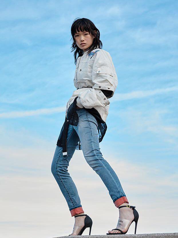 D-Ollies JoggJeans 069MC, Bleu moyen - Jeans