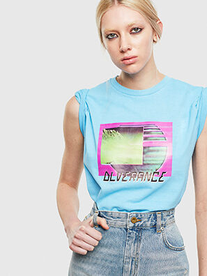 T-JUST-NEON-S1, Azur - T-Shirts