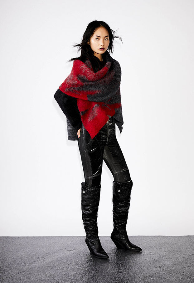 M-BRONJA, Noir/Rouge - Pull Maille