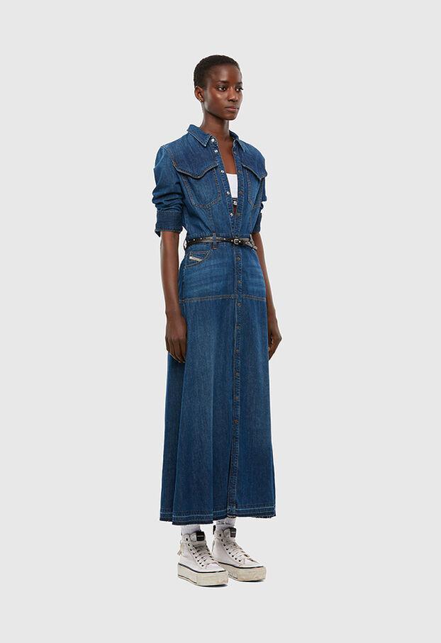DE-JOANNY, Bleu moyen - Robes