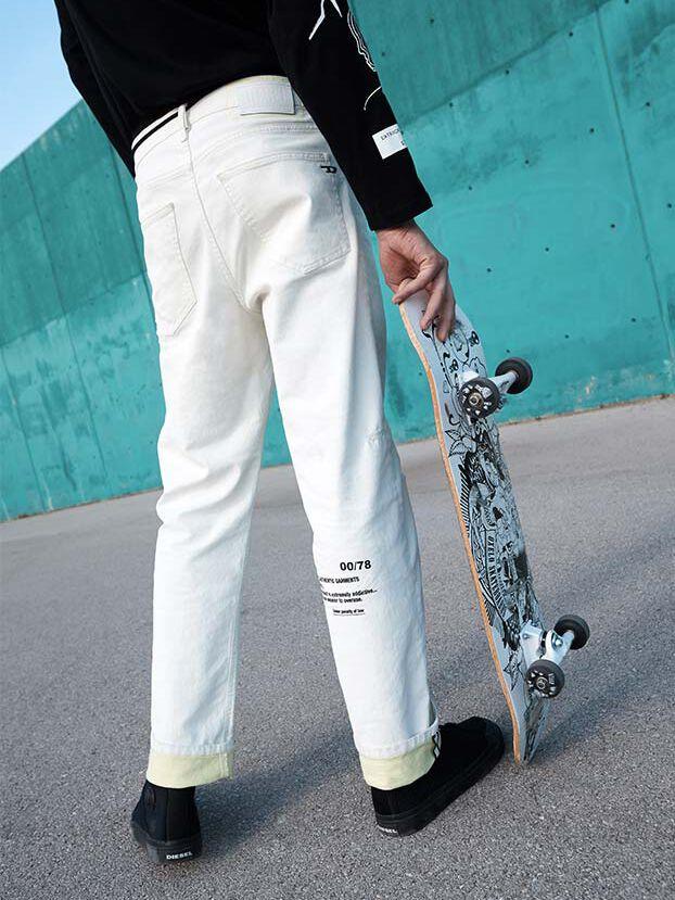 D-Macs 069MS, Blanc - Jeans