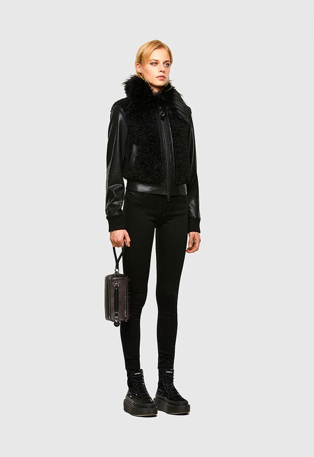 L-LEDA, Noir - Vestes de cuir