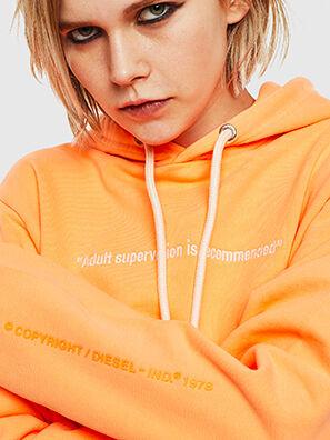 S-GIRK-HOOD-FLUO, Orange - Pull Cotton