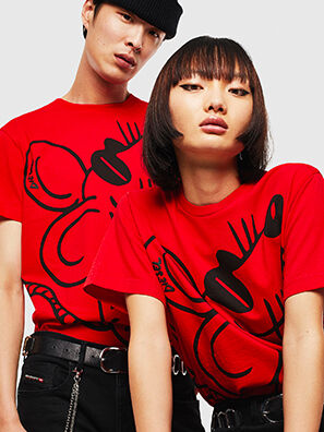 CL-T-DIEGO-2, Rouge - T-Shirts