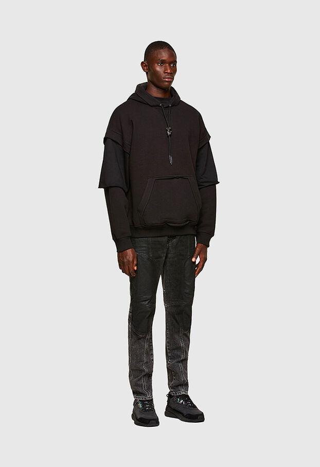 D-Vider 009QZ, Noir/Gris foncé - Jeans