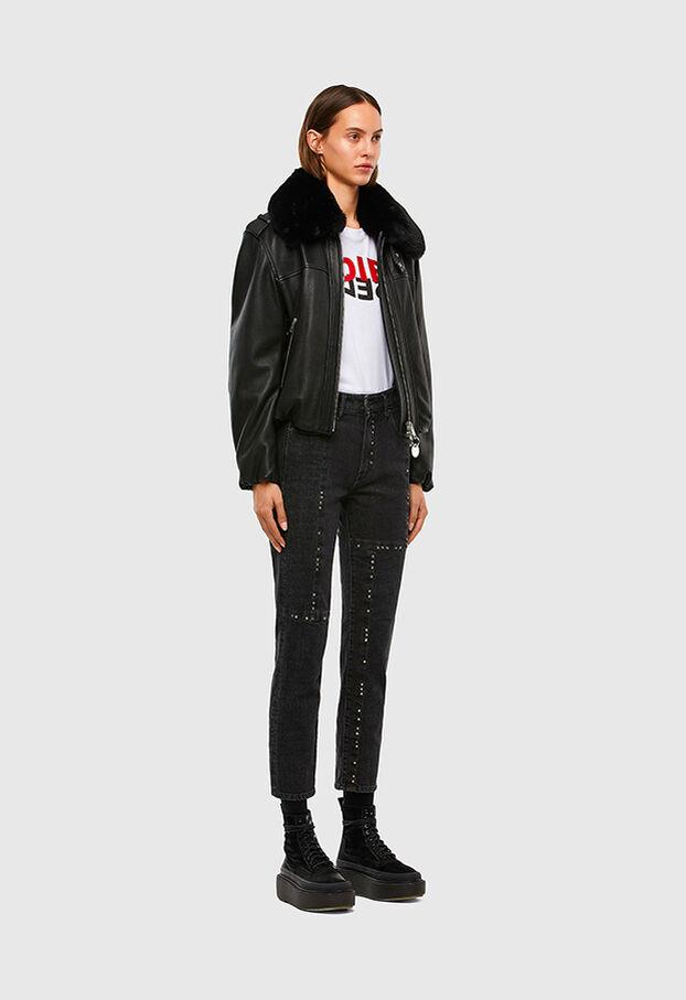 D-Joy JoggJeans 009KY, Noir/Gris foncé - Jeans
