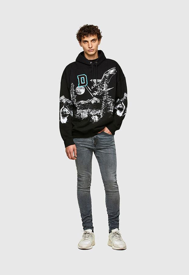 D-REEFT JoggJeans® 069RD, Noir/Gris foncé - Jeans