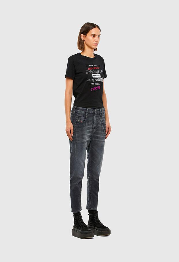 Fayza JoggJeans 069QA, Noir/Gris foncé - Jeans