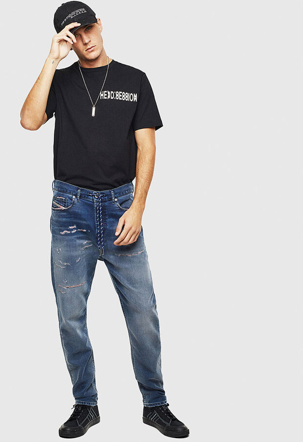 D-Vider JoggJeans 069LW, Bleu Foncé - Jeans