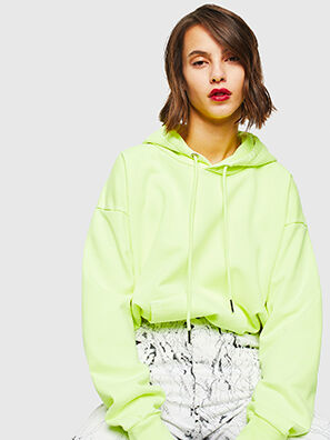 S-ALBY-FLUO, Jaune Fluo - Pull Cotton