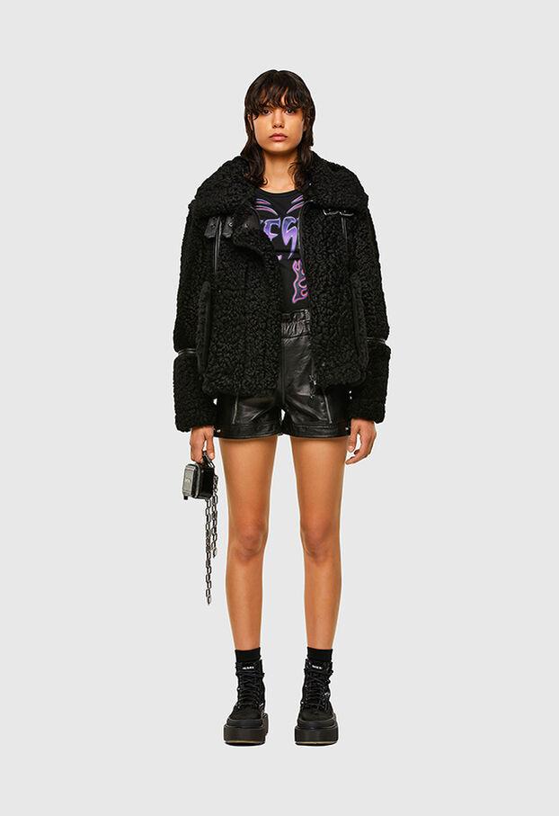 L-EYRE, Noir - Vestes de cuir