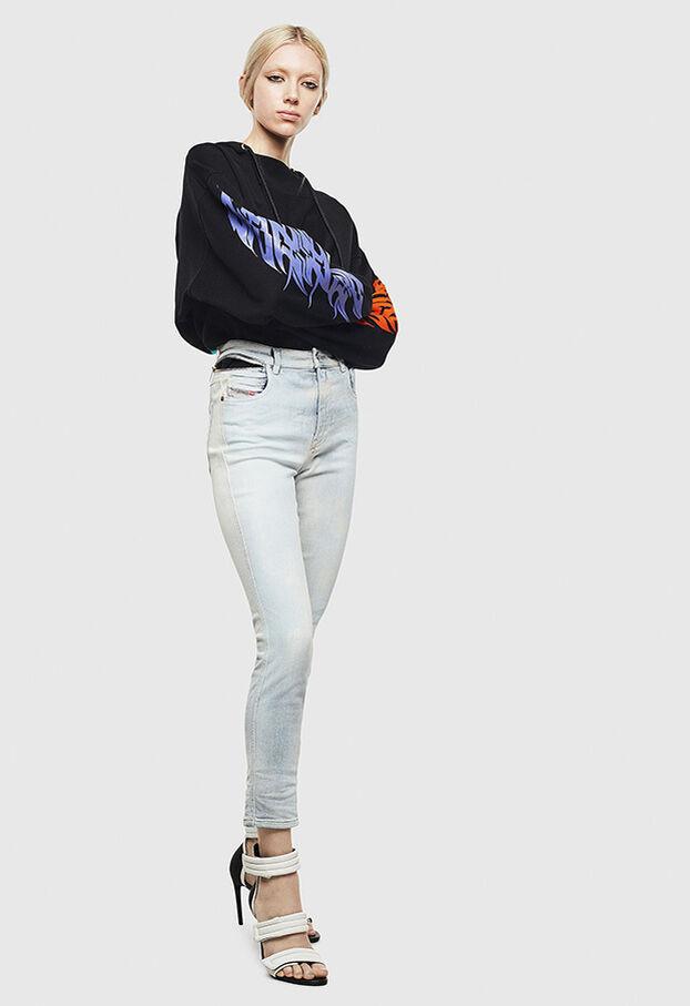 Babhila High 009AX, Bleu Clair - Jeans