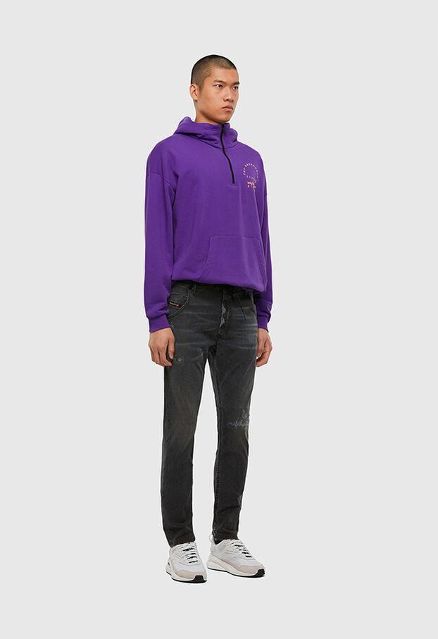 Krooley JoggJeans 009LB, Noir/Gris foncé - Jeans