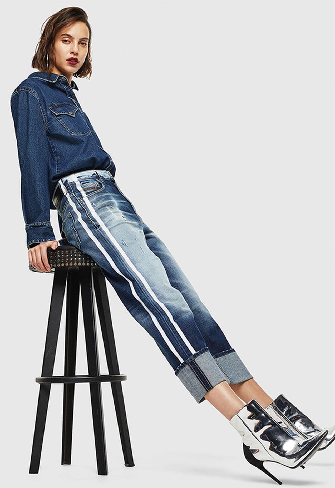 D-Reggy 0096S, Bleu moyen - Jeans