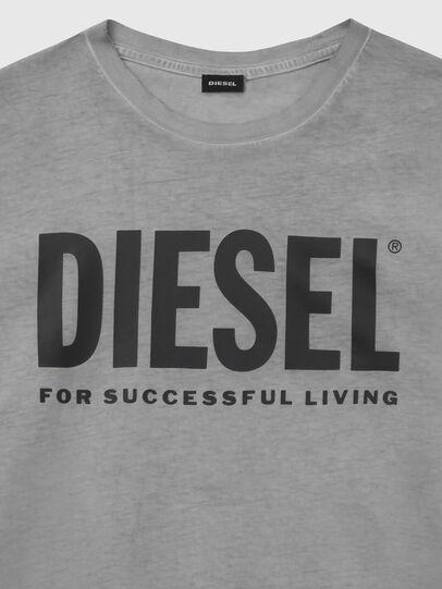 Diesel - T-DIEGO-LOGO, Gris foncé - T-Shirts - Image 3