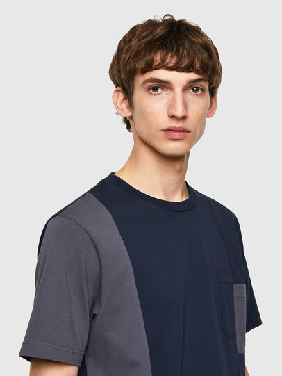 Diesel - T-RISEN-B1, Bleu Foncé - T-Shirts - Image 3