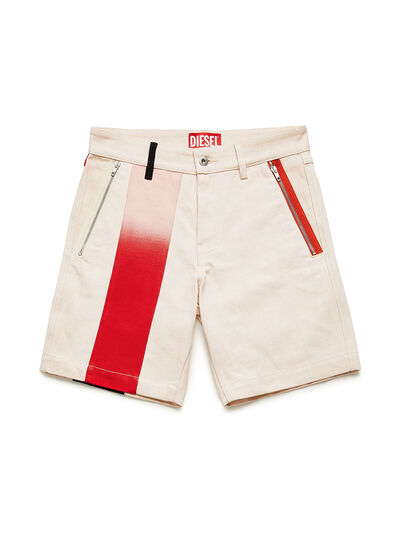 Diesel - GR02-P303-P, Blanc - Shorts - Image 1