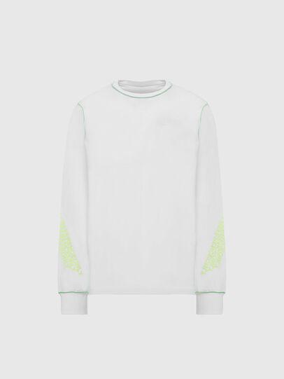 Diesel - T-JUSEAM-LS, Blanc - T-Shirts - Image 1