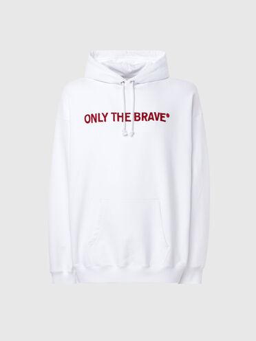 Sweat-shirt à capuche avec broderie au point de croix