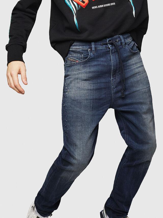 Diesel - D-Vider JoggJeans 069HV, Bleu moyen - Jeans - Image 4