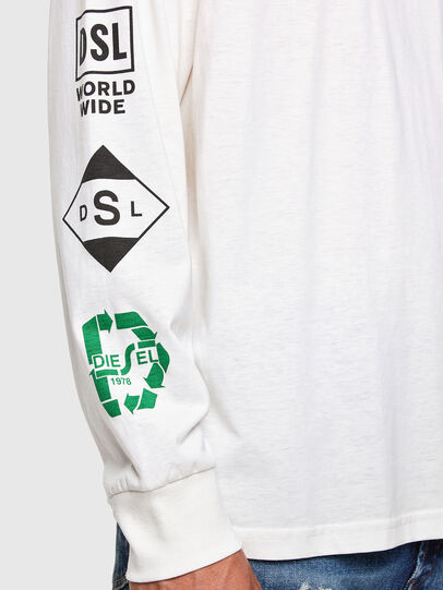 Diesel - T-JUST-LS-N60, Blanc - T-Shirts - Image 3