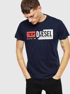 T-DIEGO-CUTY, Bleu Foncé - T-Shirts