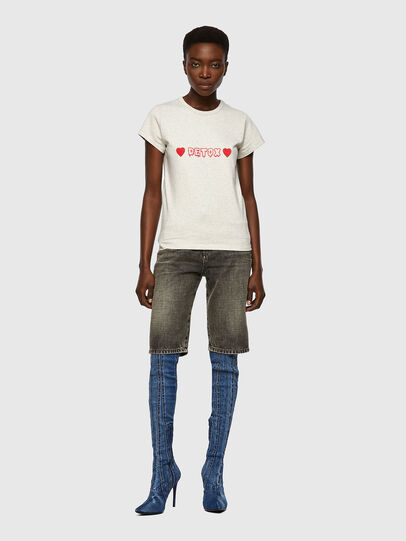 Diesel - T-SLICUP, Gris Clair - T-Shirts - Image 4