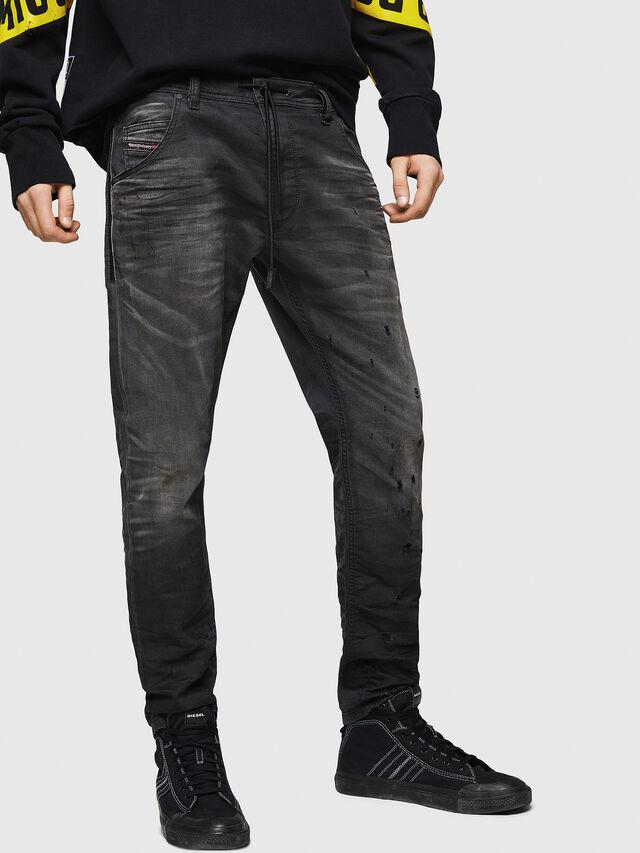 Diesel - Krooley JoggJeans 069GN, Noir/Gris foncé - Jeans - Image 1