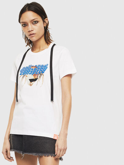 Diesel - T-SILY-S3, Blanc - T-Shirts - Image 1