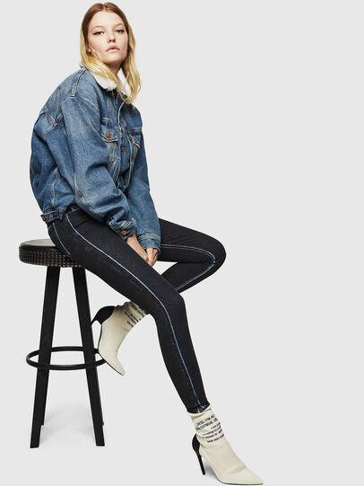 Diesel - Slandy High 0094B, Bleu Foncé - Jeans - Image 7
