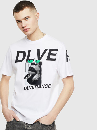 Diesel - T-JUST-T21, Blanc - T-Shirts - Image 1