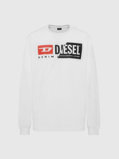 Diesel - T-DIEGO-LS-CUTY, Blanc - T-Shirts - Image 1