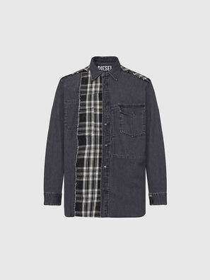 D-FINLY, Gris foncé - Chemises en Denim