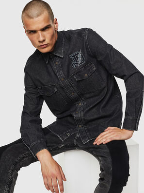 D-BANDY-B, Noir - Chemises en Denim