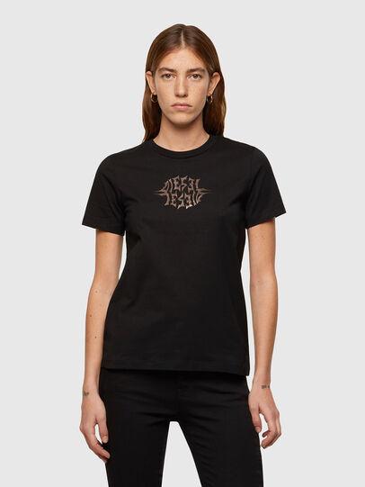 Diesel - T-SILY-K9, Noir - T-Shirts - Image 1