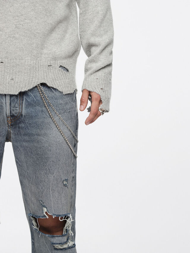 Diesel - K-MUST, Gris Clair - Pull Maille - Image 3