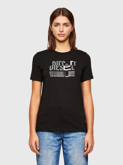 Diesel - T-SILY-K6, Noir/Gris - T-Shirts - Image 1