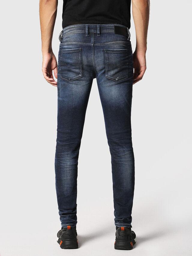 Diesel - Sleenker 084JM, Bleu Foncé - Jeans - Image 2