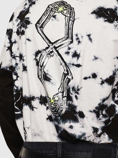 Diesel - T-JUST-LS-J6, Noir/Blanc - T-Shirts - Image 7