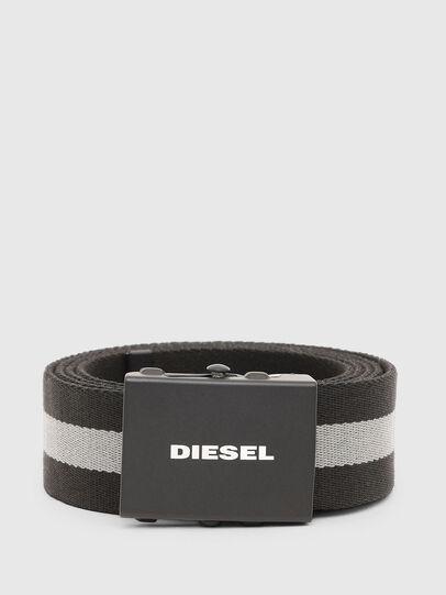 Diesel - B-PLATA, Noir/Gris - Ceintures - Image 1