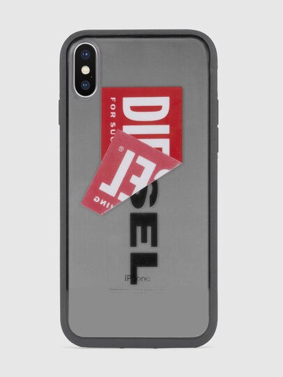 Diesel - STICKER IPHONE X CASE, Noir - Coques - Image 2