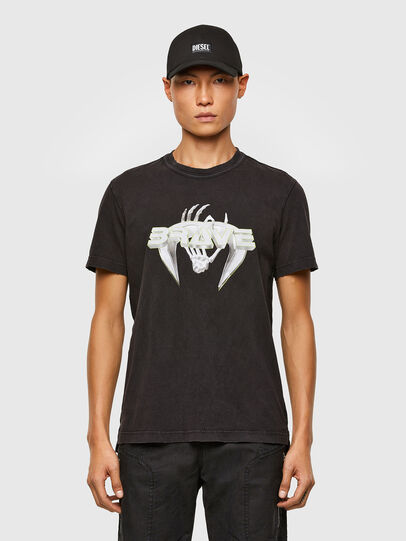 Diesel - T-DIEBIND-SLITS-A2, Noir - T-Shirts - Image 1