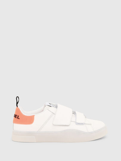 Diesel - S-CLEVER LOW STRAP W, Blanc/Rose - Baskets - Image 1