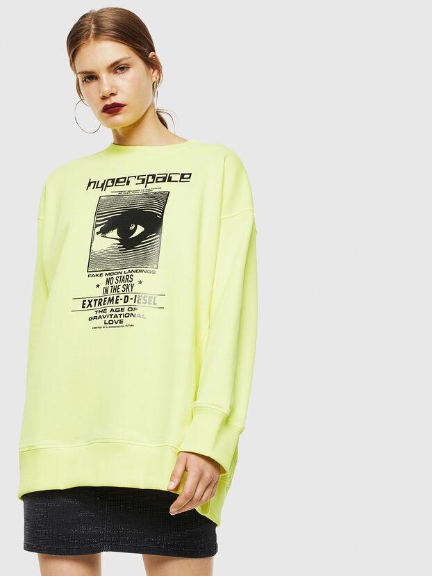 F-AKUA, Jaune Fluo - Pull Cotton