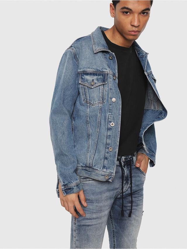 Diesel - Thommer JoggJeans 069FC, Bleu Clair - Jeans - Image 3