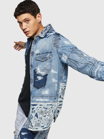 Diesel - D-HISAKY-SY, Jean Bleu - Chemises en Denim - Image 4
