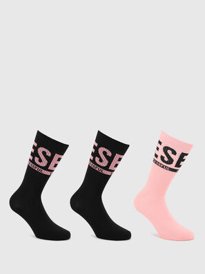 SKM-RAY-THREEPACK, Noir/Rose - Chaussettes